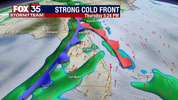 FOX 35 Storm Alert Day Thursday: Strong cold front to increase chances for severe storms