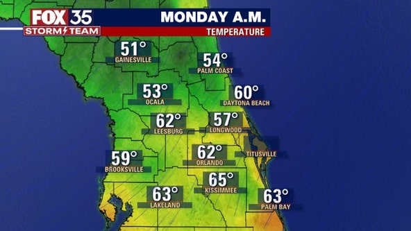 Central Florida wakes up to 50s, 60s after cool front: What's next