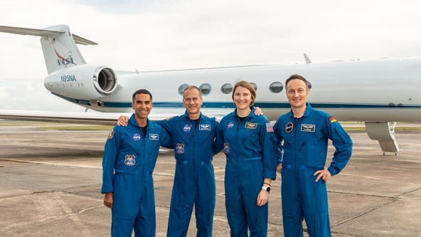 SpaceX Crew-3 astronauts arrive at Kennedy Space Center