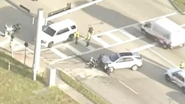 FHP: Volusia motorcycle deputy injured in crash with vehicle