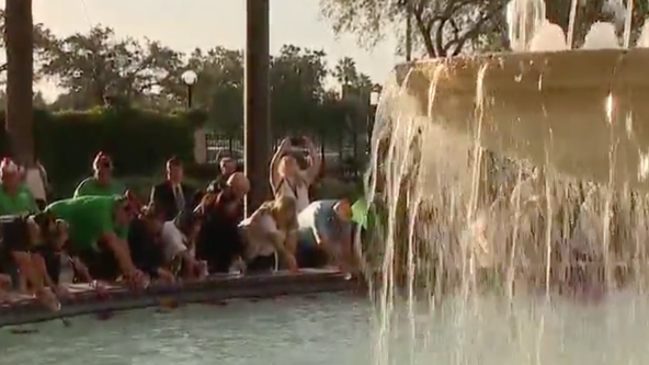 Orlando hotel holds 'Dye Our Fountain Pink' event for breast cancer awareness