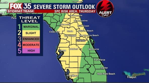 FOX 35 Storm Alert Day Thursday: Strong to severe storms possible for Central Florida