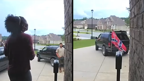 Black family fires contractor who showed up to job with Confederate flag: video
