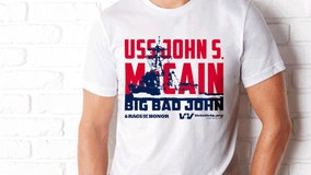 Veterans will hand out USS John McCain shirts during Trump's 'Salute to America' July 4 event