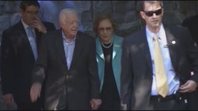 Jimmy and Rosalynn Carter celebrate 73rd anniversary