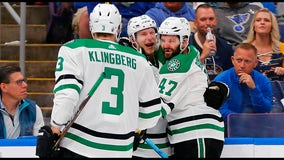 Spezza, Lindell score as Stars edge Blues for 3-2 series lead
