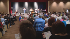 Greenville church holds services at high school after building damaged in storm