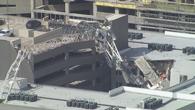 Still no timeline on when crane that collapsed on Dallas apartments will be removed
