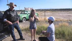 Pinal County Sheriff helps man propose to girlfriend with fake traffic stop