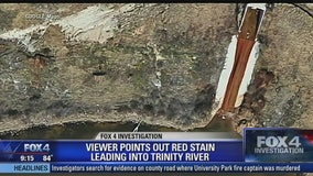 Investigation - Pollution site on the Trinity River in Fort Worth