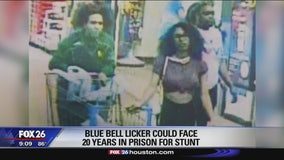 Woman who licked Blue Bell ice cream in viral video could face 20 years in prison