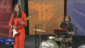 Katie Toupin performs live on Good Day