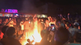 Fans in Lubbock overturn car, set scooters on fire after TTU Final Four win