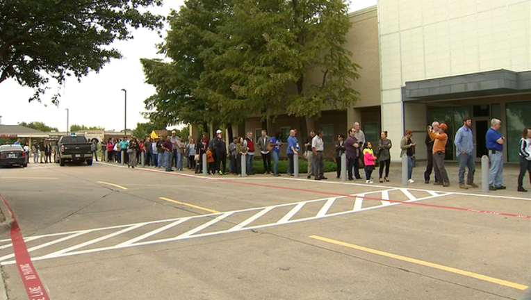 early voting lines texas 2018