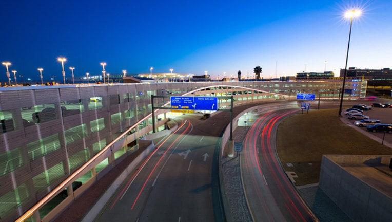 DFW Airport parking garage