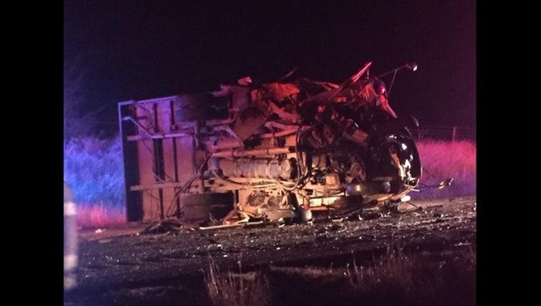 3e88d366-Bus flipped on side in Parker County on December 1 following crash involving car_1543763056676.jpg.jpg