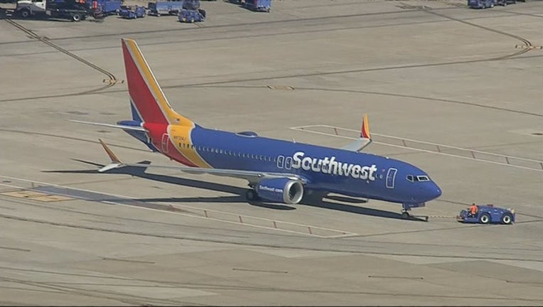 Southwest Airlines Boeing 737 Max 031319 Love Field towing