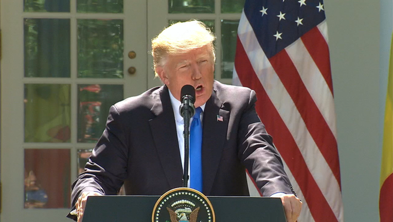 Trump rose garden  press conference