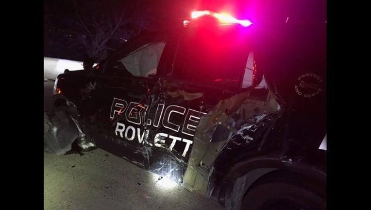 7692abb3-police Cruiser Hit by DWI suspect, rowlett