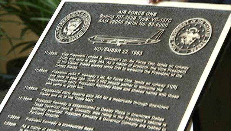 78bf0542-Dallas Love field plaque JFK LBJ