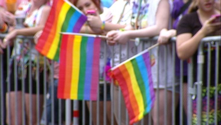 Gay LGBT rainbow flags