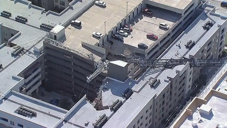 Elan City Lights Dallas apartments crane collapse