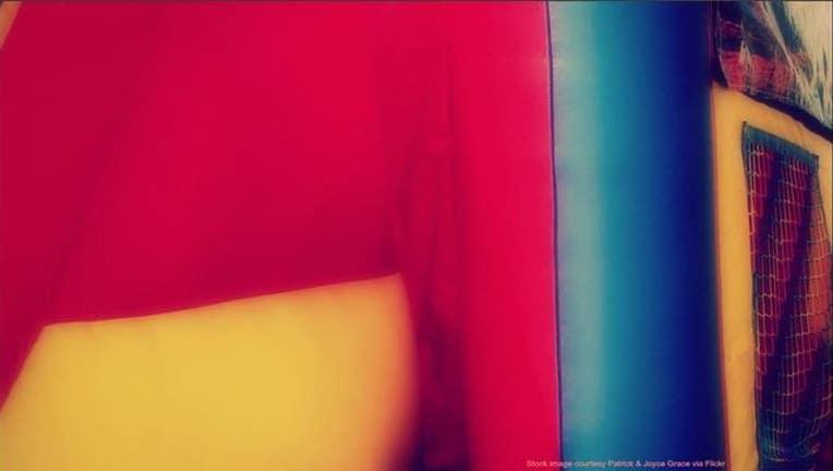 Bounce house stock photo from Flickr user Patrick & Joyce Grace-404023