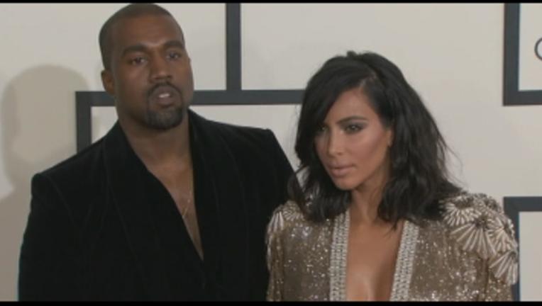 File photo of Kanye West and Kim Kardashian