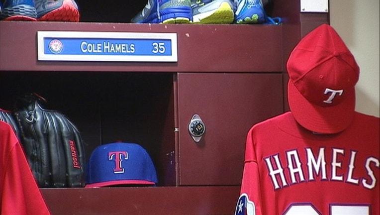 Cole Hamels locker