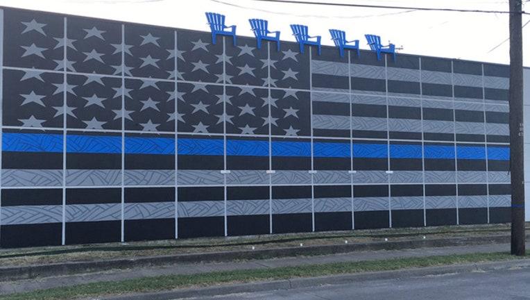 Dallas police mural web