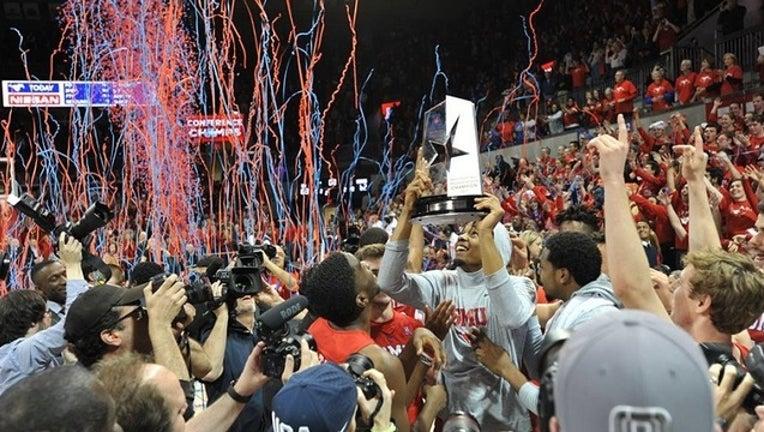 SMU basketball wins AAC title 2017