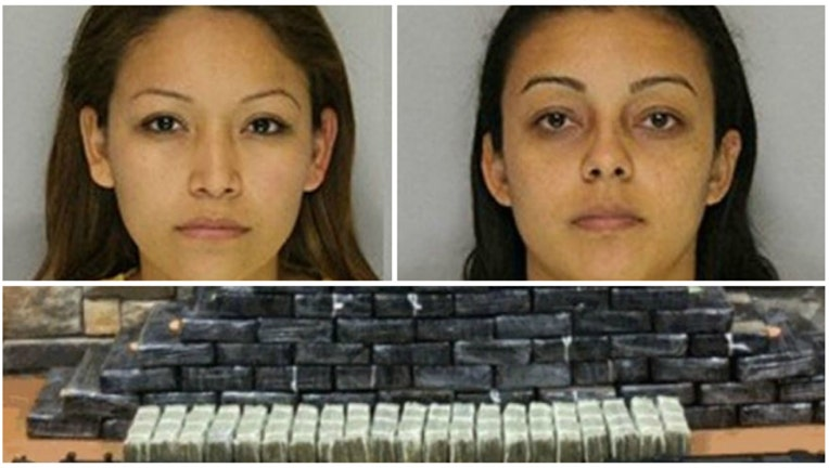Monica Pascual Brito and Karla Alvarez were charged with possession of cocaine and heroin-404023