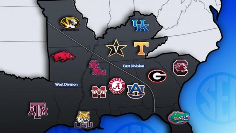 SEC school map