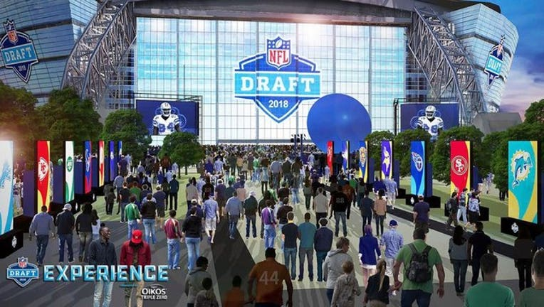 NFL Draft AT&T Stadium rendering 4