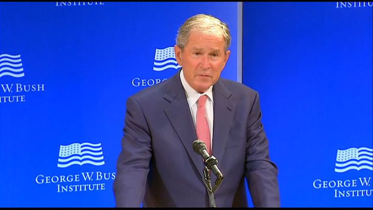 George W. Bush STATE OF DEMOCRACY IN US
