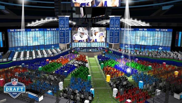 NFL Draft AT&T Stadium rendering 5