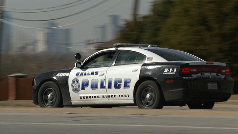 Dallas police officer car unit