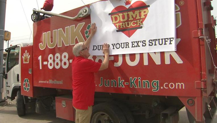 valentine's day dump truck