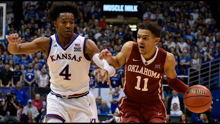 Devonte' Graham and Trae Young_1520370377335