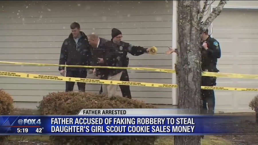 Father says he faked robbery to steal daughter's Girl Scout cookie money