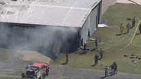 Airplanes destroyed by fire at North Texas airport