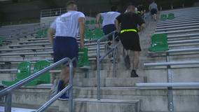 UNT students host stair climb to honor those lost on 9/11