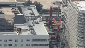 Crane expected to be fully removed from Dallas apartments by the end of September