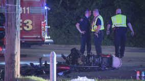 Motorcycle rider killed after slamming into car in Grand Prairie