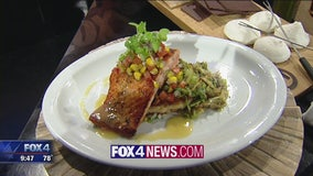 Southern Spiced Salmon with Risotto Cake & Brussel Sprouts