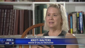 Widow of Dallas firefighter fighting for extension of benefits for families of first responders who die off duty