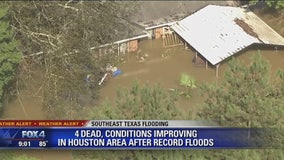 4 dead, conditions improving in Houston area after record flooding