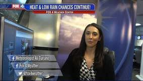 More Heat & Low Rain Chances