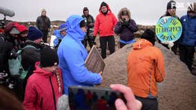Funeral for lost ice: Iceland bids farewell to Okjokull glacier