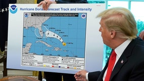 Trump shows apparently altered Hurricane Dorian forecast with hand-drawn cone toward Alabama